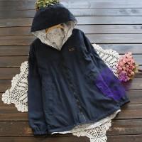 2017年日系優雅防水連帽外套
