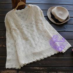 2017年日系優雅鏤空設計冷衫