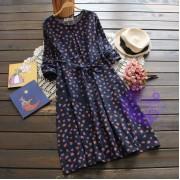 2017年日系優雅收腰設計連身裙