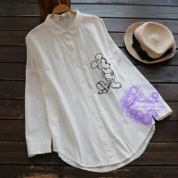 2017年日系優雅經典卡通圖案恤衫