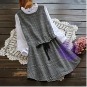 2017年日系優雅格仔設計連身裙