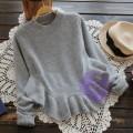 2015年日系優雅淨色特式下擺冷衫