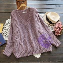 2015年日系優雅麻花設計冷衫