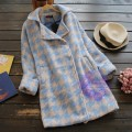 2015年日系優雅千鳥格設計外套