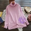 2015年日系優雅淨色樽領冷衫