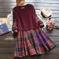 2015年日系優雅格仔裙設計連身裙