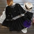 2017年日系優雅寬袖設計雪紡