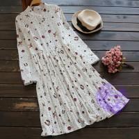 2017年日系優雅特式圖案連身裙