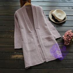 2017年日系優雅淨色設計冷衫