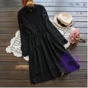 2016年日系優雅lace設計連身裙