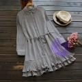 2017年日系優雅薄身設計連身裙