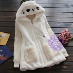 2015年日系優雅帽刺繡圖案外套
