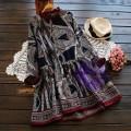 2017年日系優雅民族風設計連身裙