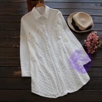 2017年日系優雅刺繡設計恤衫