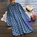 2017年日系優雅波點圖案連身裙